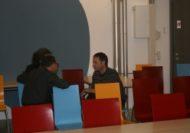 Der Referent Hans Ruedi Maag (re) nach dem Referat und vor...