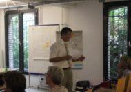 Das zweite Referat an diesem Abend hielt Thomas Aebischer (Stv. Leiter Human Resources SBB, Gesamtprojektleiter). Er berichtete von der Implementierung eines neuen HR-Geschäftsmodells bei der SBB und betonte dabei vor allem die Unterstützung von Führungskräften.
