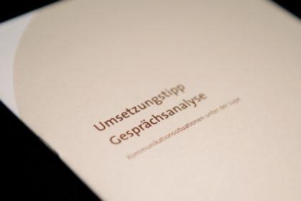 Umsetzung Gesprächsanalyse